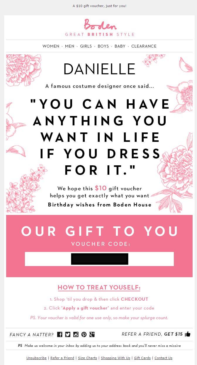Boden usa birthday email 2015 web design pinterest for Boden katalog