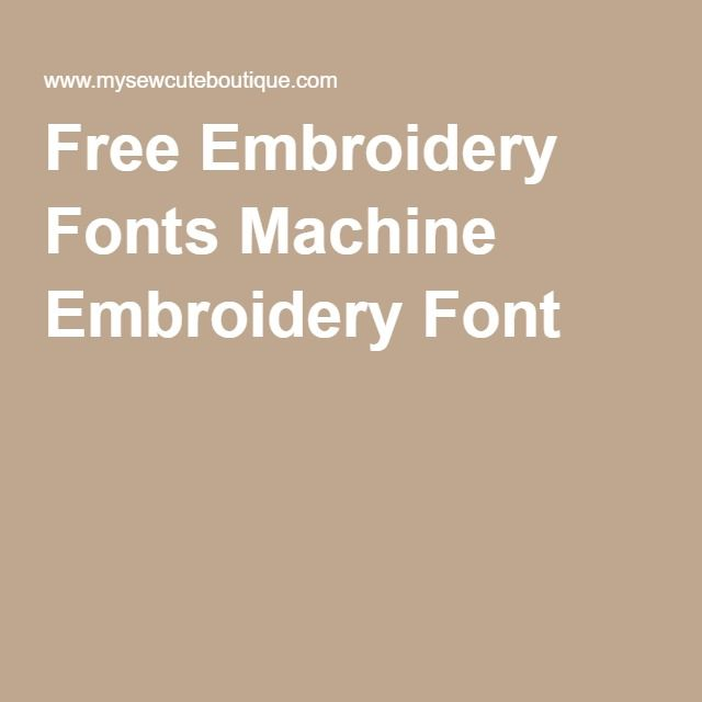 Free Embroidery Fonts Machine Embroidery Font
