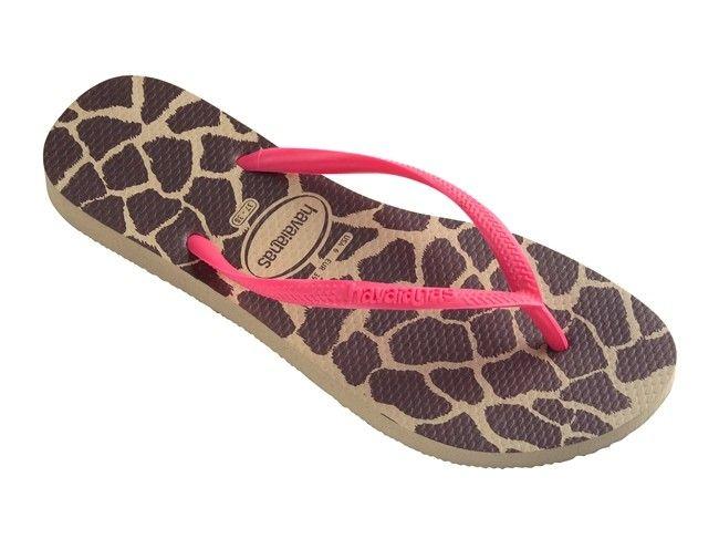 Unisex Non-slip Flip Flops Giraffe In Pink Stripe Cool Beach Slippers Sandal