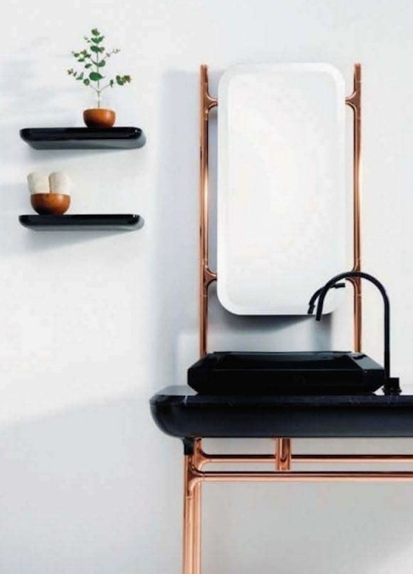 Stand Alone Sinks For Bathroom : bathroom, copper sink, French interiors, stand alone sink BATHROOMS ...