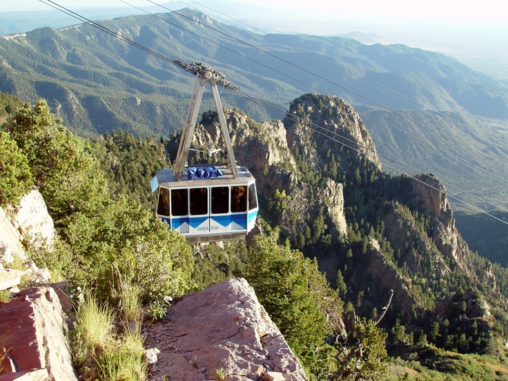 Sandia Tram in spring. Albuquerque, NM  Great place to visit - especially during the Balloon  Fiesta!