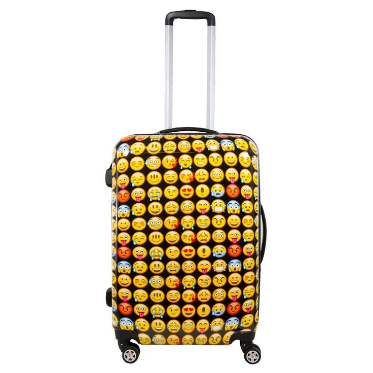 FUL Emoji Hardside Upright Spinner Upright Luggage (24),