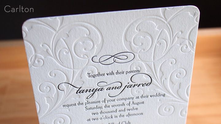 Letterpress Wedding Invitations, Business Cards, and More   Parklife Press