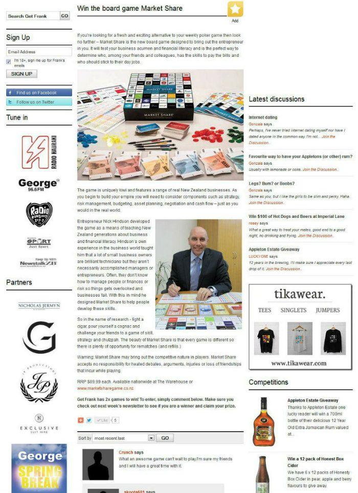 Market Share in get Frank Magazine