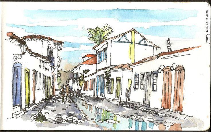 Paraty, Brasil Dibujo de Javier Bossi