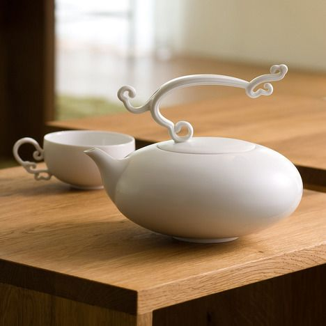 """Melodious Note"" tea set by Heinrich Wang. Absolutely beautiful design and production."
