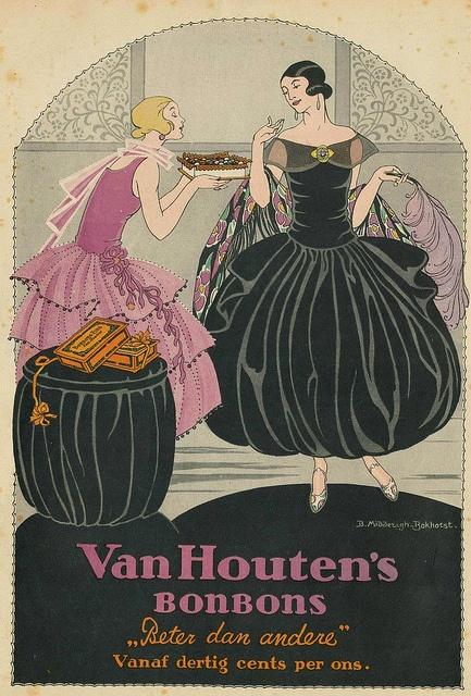 ♥adv Van Houtens Bonbons 1923 B Middedrigh -Bokhorst