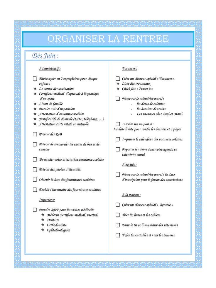 ORGANISER LA RENTREE .pdf - Fichier PDF