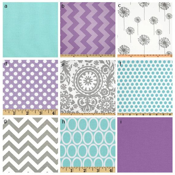 Hey, I found this really awesome Etsy listing at https://www.etsy.com/listing/126641244/custom-crib-bedding-purple-grey-and-aqua
