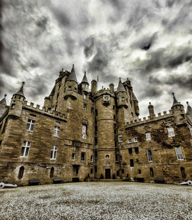 Glamis Castle, Scotland. 600 years of Royal history lies behind this turreted castle, said to be home to the spirit of a hideously deformed child who was kept locked away his entire life. That's just one of the many spirits inhabiting the castle #haunted #scotlandcastle #mosthauntedbritain