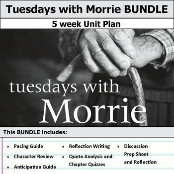 best teaching tuesdays morrie images tuesdays morrie unit bundle