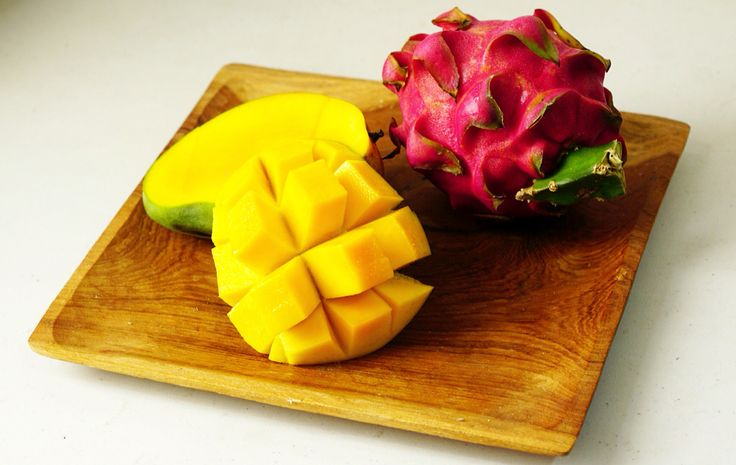 Dragon Fruit + Mango   #tropical #fruit