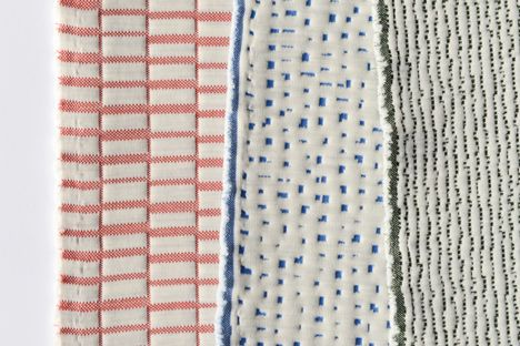 Preview of the new knitted textile collection by Ronan and Erwan Bouroullec for Kvadrat, to be launched during Salone Internazionale 2014 - Canal, Moraine and Gravel. Check out all our recent fabric news on our website http://kvadrat.dk/products/new