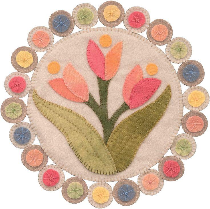 Best wool penny rugs images on pinterest felt