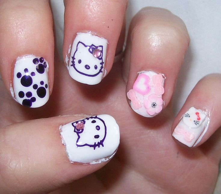 49 best Nail Designs images on Pinterest | Nails design, Hello kitty ...