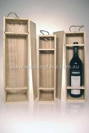 Plywood Wine Boxes - Set of 3 - The Wedding Faire