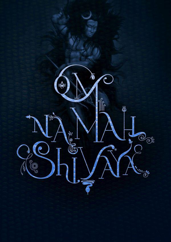 """OM NAMAH SHIVAYA """"Om, inclino-me perante Shiva"""" ou """"Om, inclino-me perante o meu divino Ser interior"""". É utilizado na meditação ióguica e os seus praticantes afirmam que o seu japa induz um profundo relaxamento físico e mental, além de possuir eventuais efeitos curativos e relaxantes.TYPOGRAPHY by Enki, via Behance"""