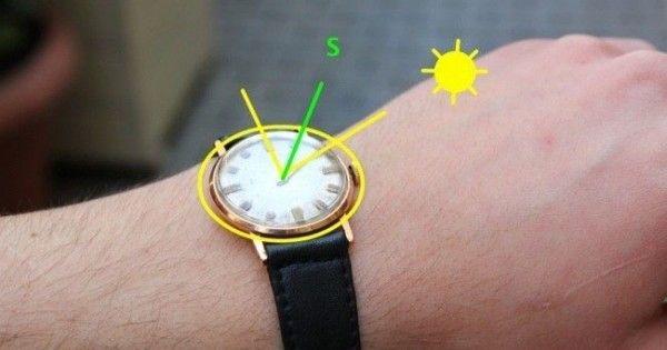 Wozu einen Kompass kaufen? Benutze einfach deine Armbanduhr                                                                                                                                                                                 Mehr