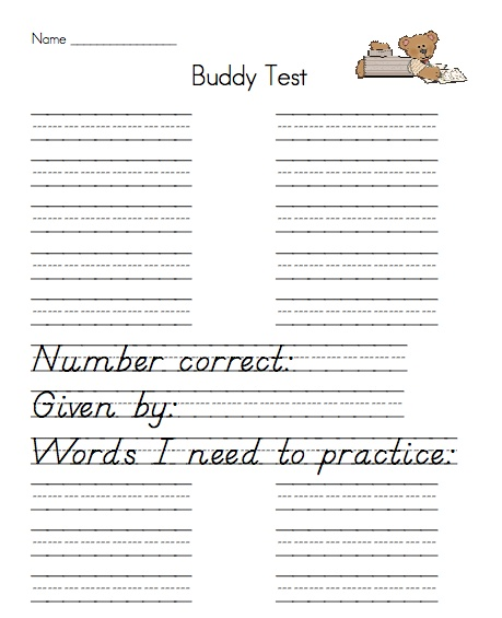 68 best Spelling images on Pinterest Spelling activities - spelling test template