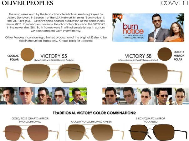 70bf5e7a1f Michael Westen Oliver Peoples Victory Polarized Aviator Sunglasses ...