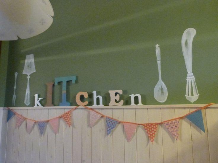 Posate sul muro della mia cucina :)