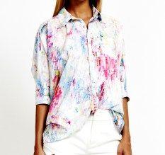 Talulah colourful spectrum shirt, $220 | www.threadsandstyle.com.au