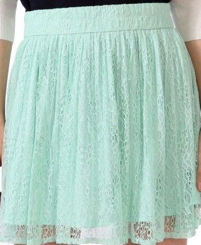 Lace Skater Skirt | Forever 21- I love this store even though I'm not even an x-small !!!