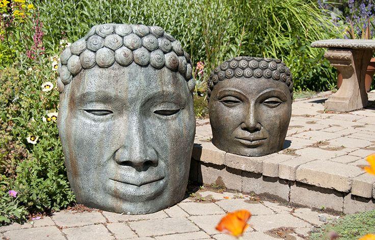"Buddha Face Designed by Klaus Kinast Large 22"" x 11"" x 28""  110 lbs $320 Medium 15"" x 7"" x 16""  50 lbs $160"