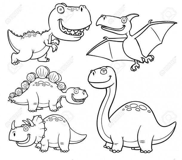 Dinosaurios Para Colorear Imagenes De Dinosaurios Infantiles Libro De Dinosaurios Para Colorear Dinosaurios Para Pintar ¡herbívoros y carnívoros de pura raza! dinosaurios para colorear imagenes de