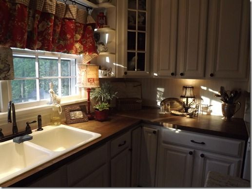 The Counters Are Made From Doors My Style Pinterest Doors Countertops And Cottage Ideas