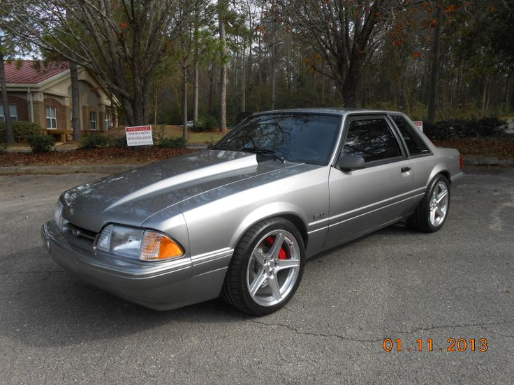 Silver 5.0L Fox Mustang…Front side pic. I'm really starting to want one of these. May have to make that happen