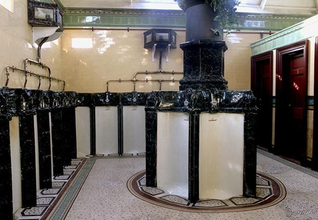 These elegant Victorian urinals were installed at Scotland's Rothesay Pier resort in 1899. Built for just $850, the facilities were saved from destruction in 1994 by the Strathclyde Building Preservation Trust — which paid $480,000 for the restoration overall.