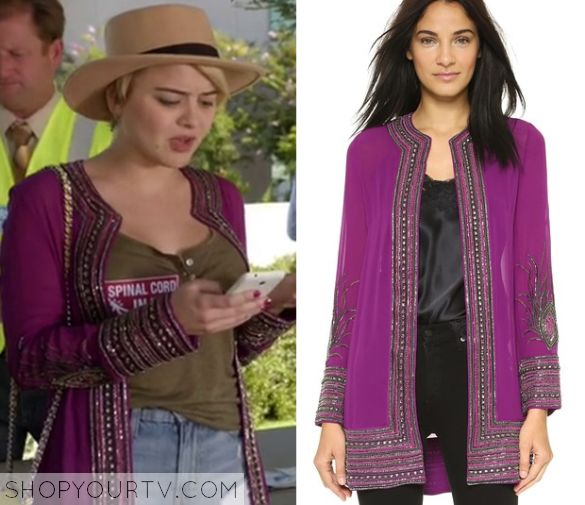 Kevin From Work: Season 1 Episode 8 Roxie's Purple Embellished Trim Jacket