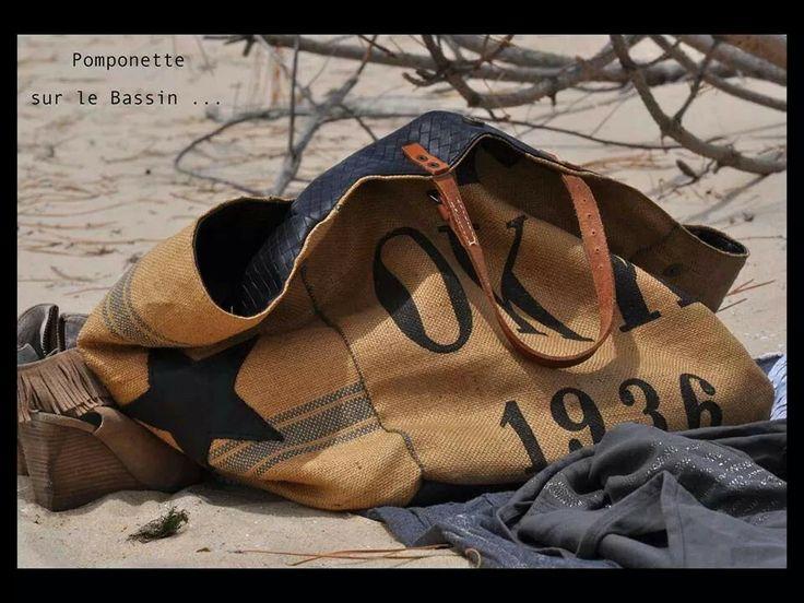 Sur la plage !!! ils sont restés !!! Les SACS POMPONETTE de MARSEILLE