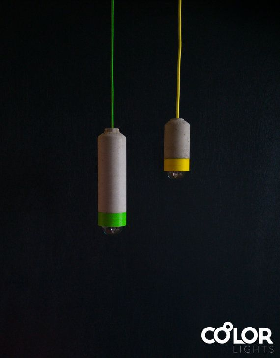 Colourful Concrete Pendant Light