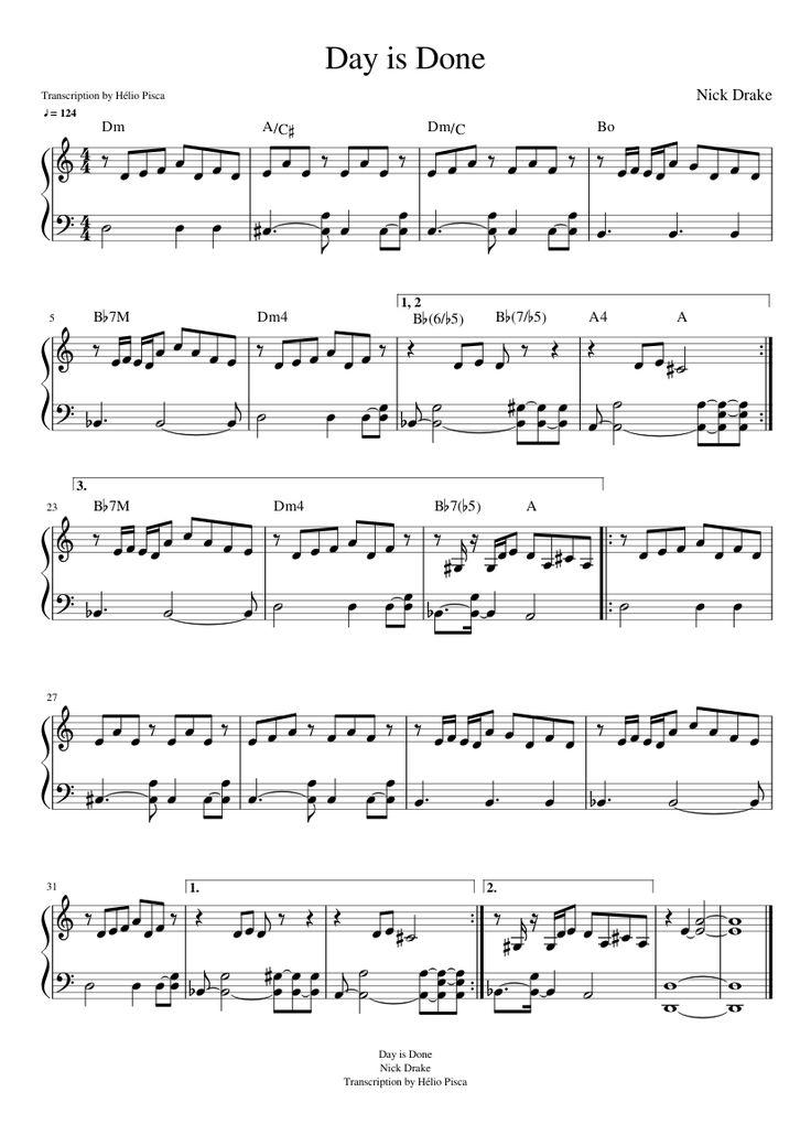 Pin by Jo Echo Syan on Piano Music Nick drake, Piano