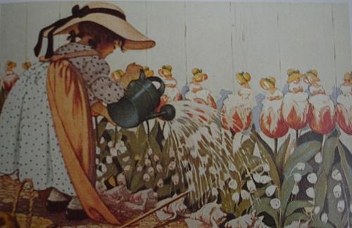 Jessie Wilcox Smith illustration, Mistress Mary Quite Contrary.