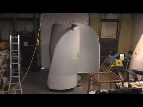 10kW Magnetically Levitated Vertical Axis Wind Turbine VAWT - YouTube