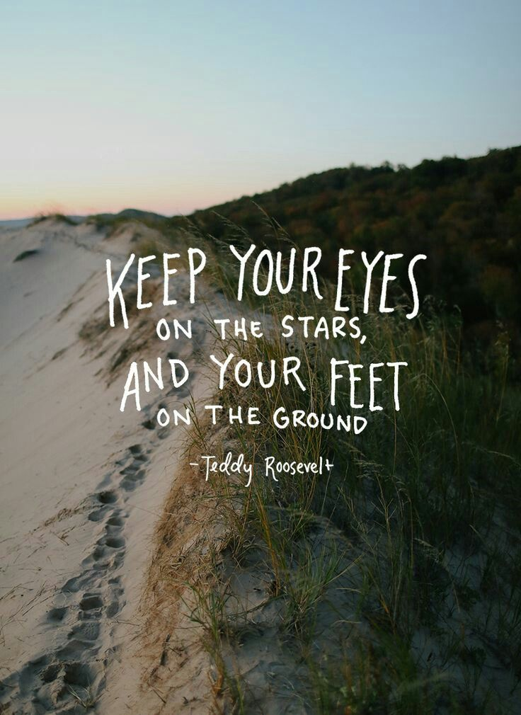 Keep your eyes on the stars and your feet on the ground. - inspirational quote