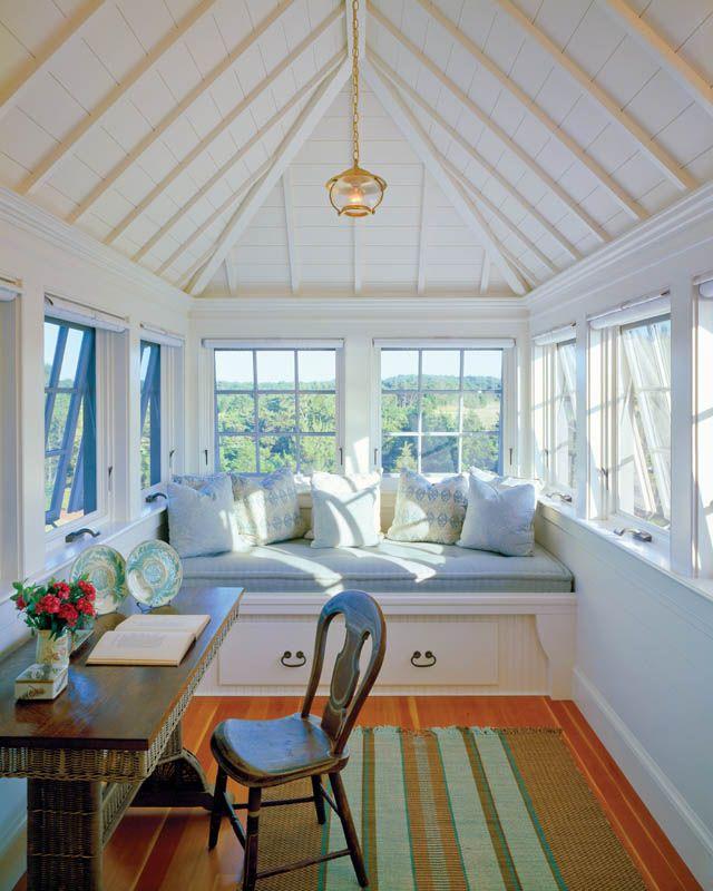 SEMI OUTDOOR--Mimi Bennett's study / sleeping porch on Martha's Vineyard / photo: Brian Vanden Brink
