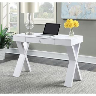 Shop for Convenience Concepts Newport Espresso/White Wood Desk with Drawer. Get free shipping at Overstock.com - Your Online Furniture Outlet Store! Get 5% in rewards with Club O!