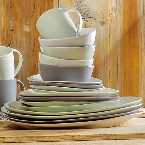 Artisanal Kitchen Supply™ Curve Dinnerware Collection in Celadon