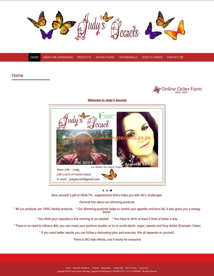 Judy's Slimming Secrets - Designed & Maintained by HB WEB