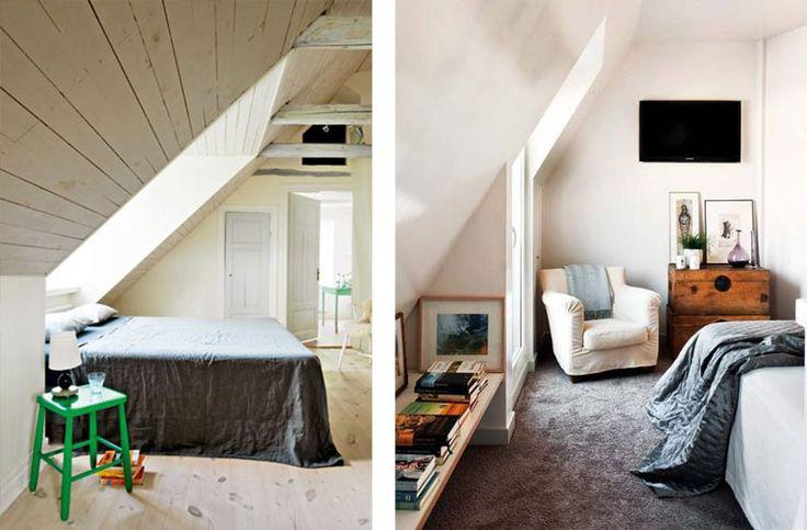 slaapkamer inrichten met een schuin dak
