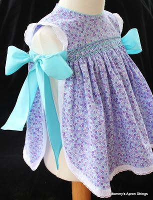 Pinafore of my own design- size 6 months. Pattern coming soon!