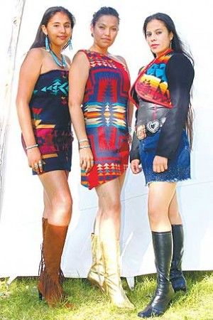 American Indian models wearing some of Mildred Carpenter s designs. ADAM SINGS IN THE TIMBER/Gazette Staff American Indian clothing designer Mildred Carpenter designs ...