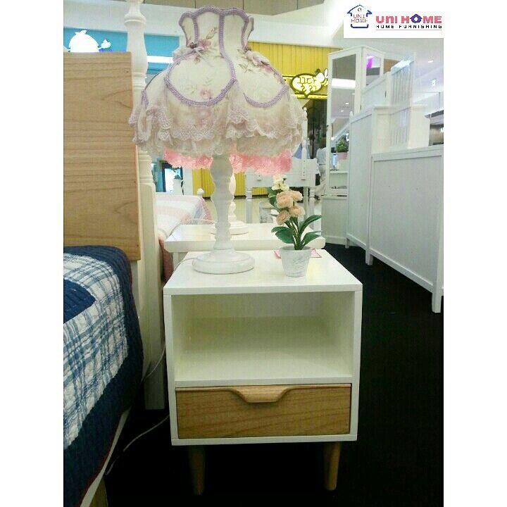 Night stand Korea Series, 40 x 40 x 50 cm. Showroom: Ruko Emerald Avenue 2 #B12 Sektor 9, Jln Boulevard Bintaro Jaya, Tangerang Selatan. 021-22210817 / 0812-1385-7691. Line: Unihome / Wa 0878-8432-5705.