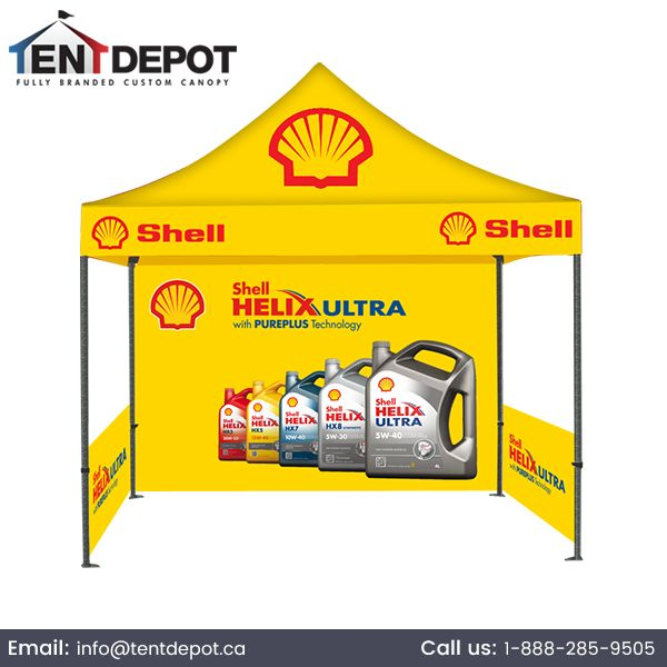 #CanopyTents for Sale. The #CustomrintedCanopyTent 10ft X 10ft includes a color-printed roof with unlimited graphics, a fully-printed single-sided Canopy tent.