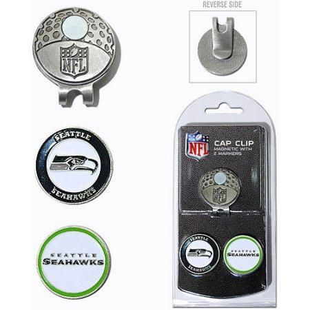 Team Golf NFL Seattle Seahawks Cap Clip With 2 Golf Ball Markers