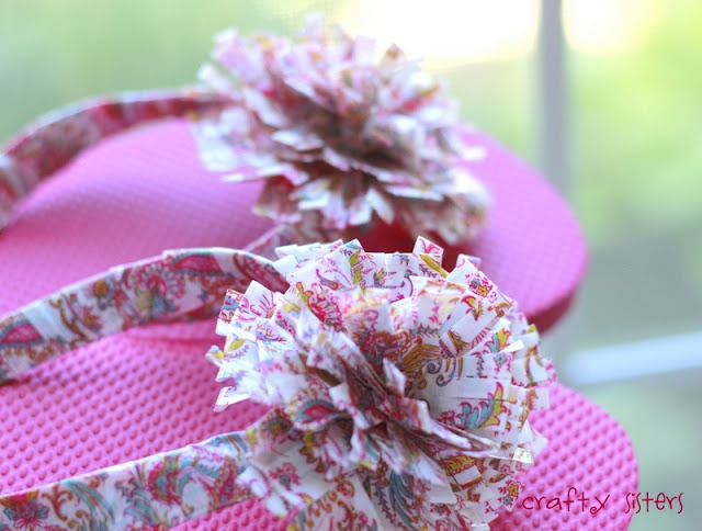 decorate flip flops with duct tape!